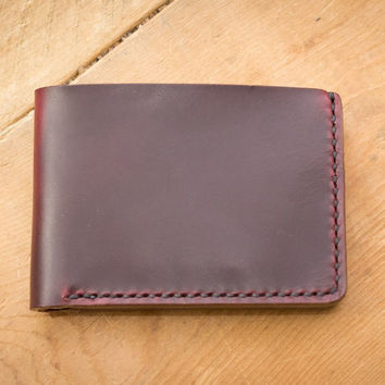 Burgundy Traditional Leather Wallet