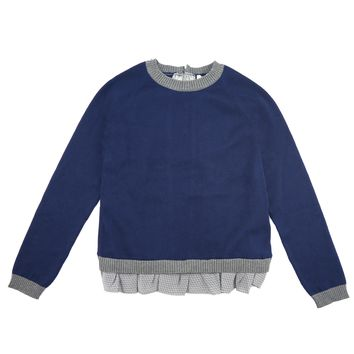 Fendi Girls Navy Fancy Sweater