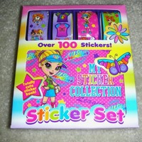 """Lisa Frank Sticker Set with Mini Sticker Book 4 Designs """"Price for 2 Sets"""""""