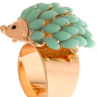 Hedgehog Ring | Green