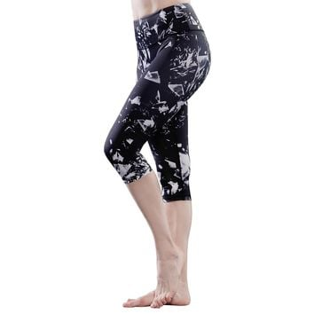 Sportwear Yoga Capris Workout Leggings Pant Cool design for Women High Waitsted for Running Jogging Activewear &Casual Wear