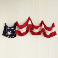 Vintage Red, White, and Blue Banner at Free People Clothing Boutique