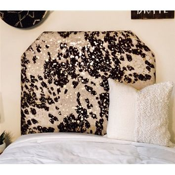 Glam Cow - Brown & Gold Twin/Twin XL Beveled Headboard - Walmart.com
