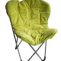 Cheap College Essentials - Comfort Padded Butterfly Foldable Dorm Chair - Lime Seating Option