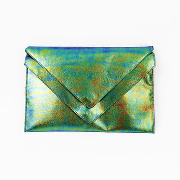 Iridescent Envelope Clutch  H&M one size by Julio Cortez