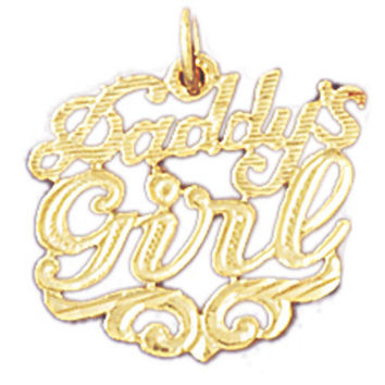 14K GOLD SAYING CHARM - DADDY'S GIRL #9882