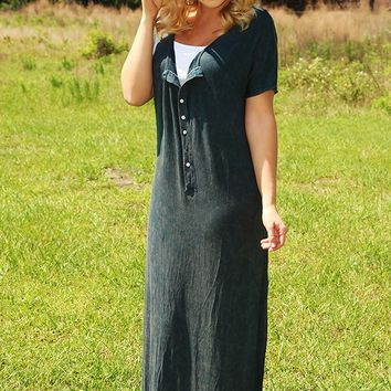 Sooner Or Later Maxi Dress: Navy - What's New - Hope's Boutique