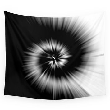 Society6 TIE DYE #1 (Black & White) Wall Tapestry