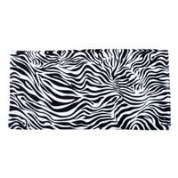 Animal Print Velour Beach Towel-100% Cotton-Zebra Style