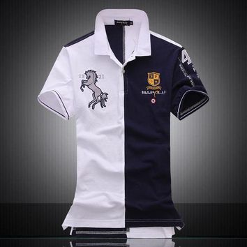 DCCKKFQ European Style Air Force One Men's Horse Logo Embroidery Polos Shirt Cotton Casual Army Military POLO Shirt Brand Clothing Homme