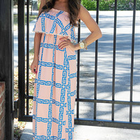 Know What's Right Dress: Light Pink/Blue