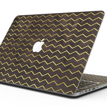 Brown and Gold Watercolor Cheveron - MacBook Pro with Retina Display Full-Coverage Skin Kit