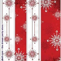 Falling Flakes Plastic Tablecover - Multi-colored for Christmas