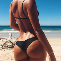 New Hot Women Sexy Brazilian Bikini Bottom Thong Bathing Beach Swimsuit Swimwear Plus Size maillot de bain femme F1