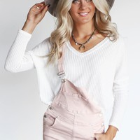 Inside Out Cream Waffle Knit Thermal Top
