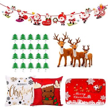 FENGRISE Christmas Decorations For Home Navidad New Year Santa Claus Christmas Banner Reindeer Elk Pendant Ornaments 2019