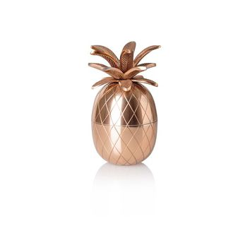Copper Pineapple Storage Pot - All - Oliver Bonas