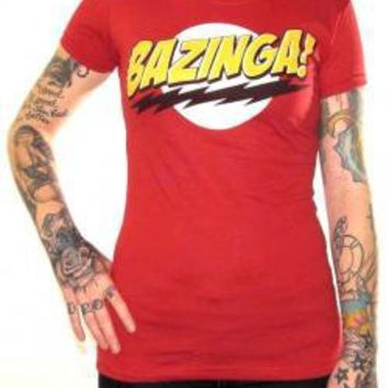 ROCKWORLDEAST - Big Bang Theory, Girls T-Shirt, Bazinga