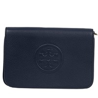 Tory Burch Bombe Convertible Clutch Leather TB Logo