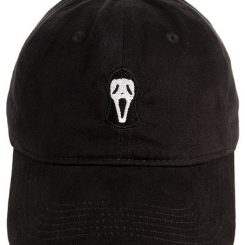 The Ghostface Dad Hat in Black