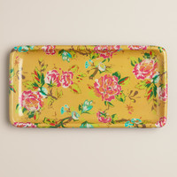 Yellow Floral Bath Tray - World Market