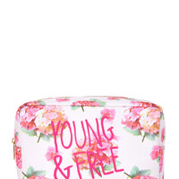Young & Free Floral Cosmetic Bag
