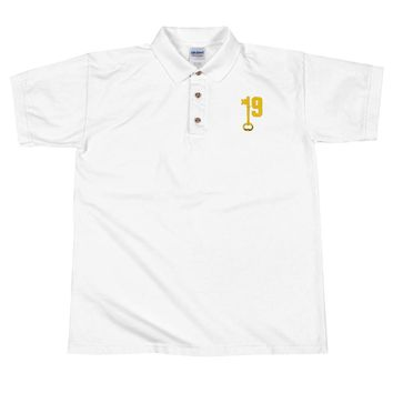19keys Embroidered Polo Shirt