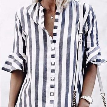 Elmira Striped Shirt Dress