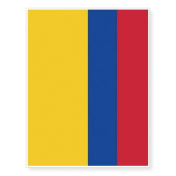 Patriotic temporary tattoos Flag of Colombia