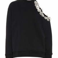 DNA crystal cotton sweatshirt