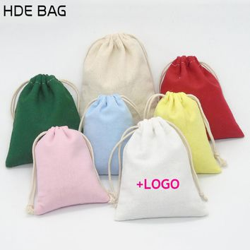 15x20cm Canvas Jewelry Organizer Gift Bag Pure Cotton Makeup Storage Cosmetics Bag Packing Bags 20pcs/lot