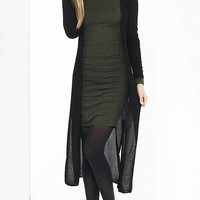 Black Ribbed Maxi Cover-up from EXPRESS