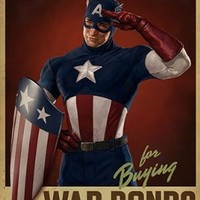 eFx Captain America Cap Salutes You Movie Prop Poster