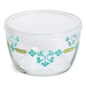 Fishs Eddy Glass Storage Bowl with Lid