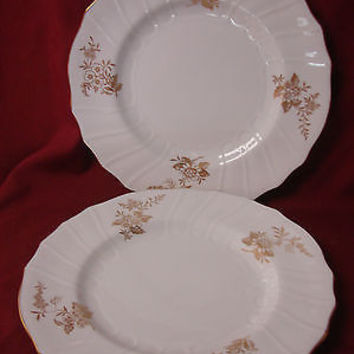 Spode Bone china  Dinnerware Louvain  Pattern #Y7520  set 2 Dinner plate
