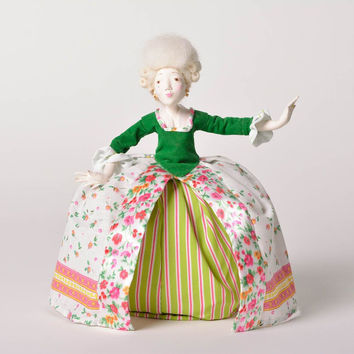 Unusual handmade doll paper clay home interior figurine contemporary art
