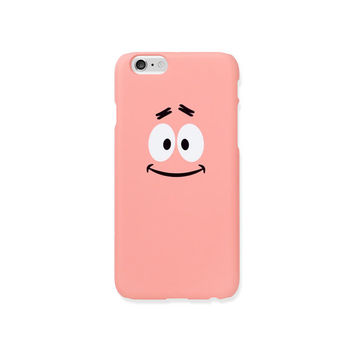iPhone 5s case - Patrick Star Smile Face - iPhone 5s case, iPhone 6s case, iPhone 6+ case, Good Luck Gold Sticker, non-glossy hard shell L33