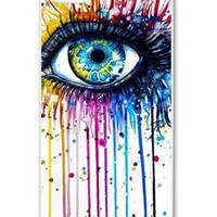 Season.C Durable Bling Colorful Shine Eye Hard Back Case Cover for iPhone 5 5S