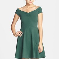 Frenchi Off-Shoulder Fit & Flare Dress (Juniors)