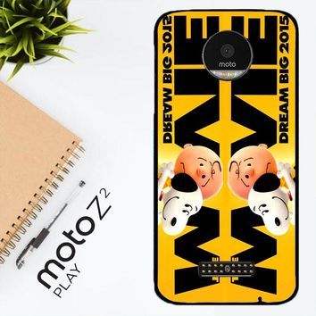 Snoopy And Charlie Brown The Peanuts 2015 Movie V 2104 Motorola Moto Z2 Play Case