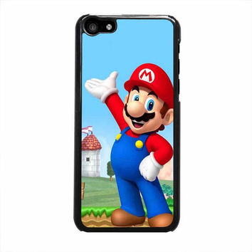 mario and princess peach right iphone 5c 5 5s 4 4s 6 6s plus cases