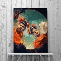 Breaking Bad, Breaking Bad Poster, Walter White, Jessie Pinkman, Heisenberg Print, Tv Series, Portrait, Wall Art Print