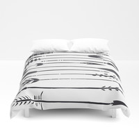 Narrow Boho Arrows Duvet Cover by All Is One