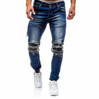 Mens Skinny Distressed Jeans