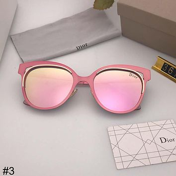 DIOR 2018 new polarized sunglasses elegant metal large frame colorful driving mirror sunglasses #3