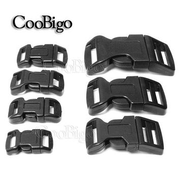 "10pcs 3/8"" 1/2"" 5/8"" 3/4"" 1"" Side Release Buckle Curved Plastic Hardware Dog Collar Paracord Bracelet Backpack Bag Parts"