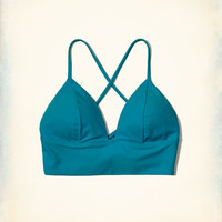 Girls Longline Triangle Bikini Top | Girls Swimwear | HollisterCo.com