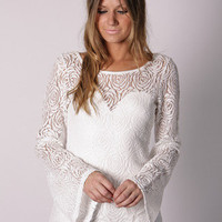 Esther Boutique - eva lace long sleeve top