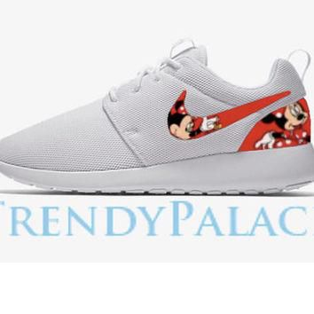 Minnie Mouse Custom Nike Roshe Men/Women/Youth Sizes Minnie Mouse Roshes Custom Nikes
