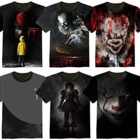 T Shirt Clown Stephen King 1990 Horror Movie
